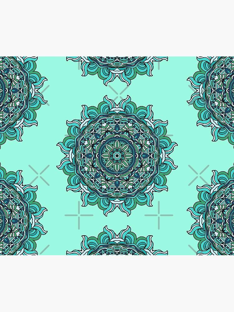Blue mandala by JuliaBadeeva