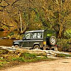 Tarr Steps Landrover by RawImageArt