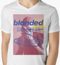 blonded FYF Red Men's V-Neck T-Shirt