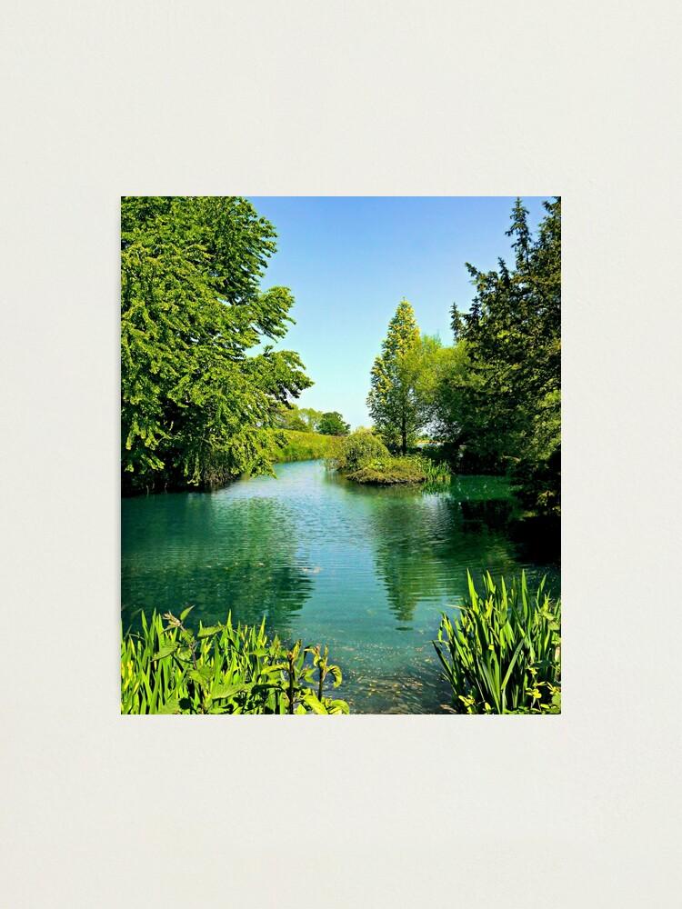 Alternate view of Aqua Lake Photographic Print