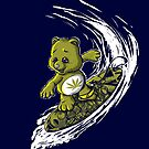 Surfing Don'tCareBear by Liviu Matei