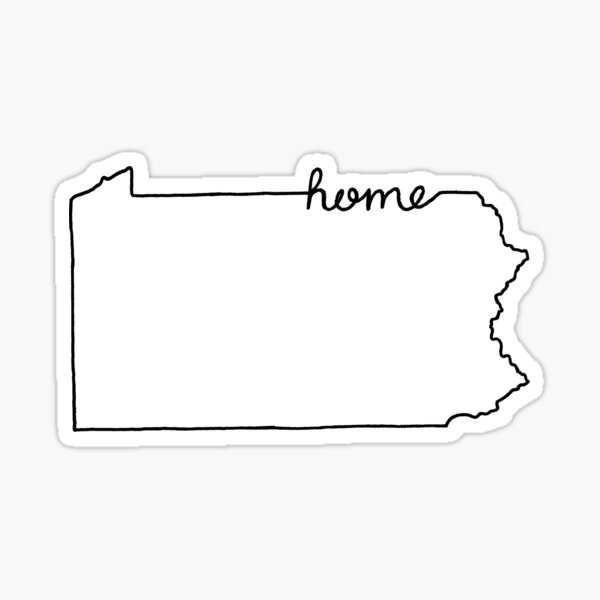 Pennsylvania Home State Outline Sticker