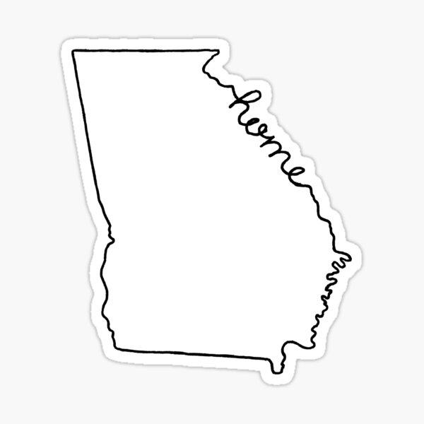 Georgia Home State Outline Sticker