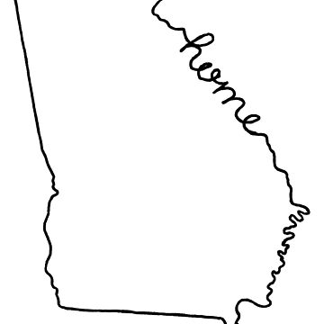 Georgia Home State Outline by jamiemaher15
