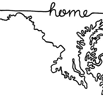 Maryland Home State Outline by jamiemaher15