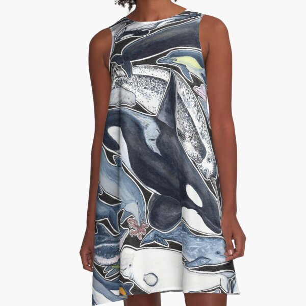 Dolphins, orcas, belugas, narwhals, and cie A-Line Dress