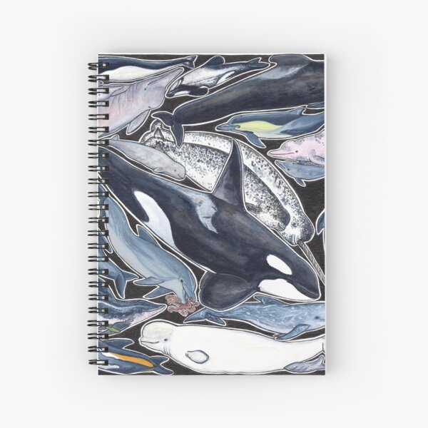 Dolphins, orcas, belugas, narwhals, and cie Spiral Notebook