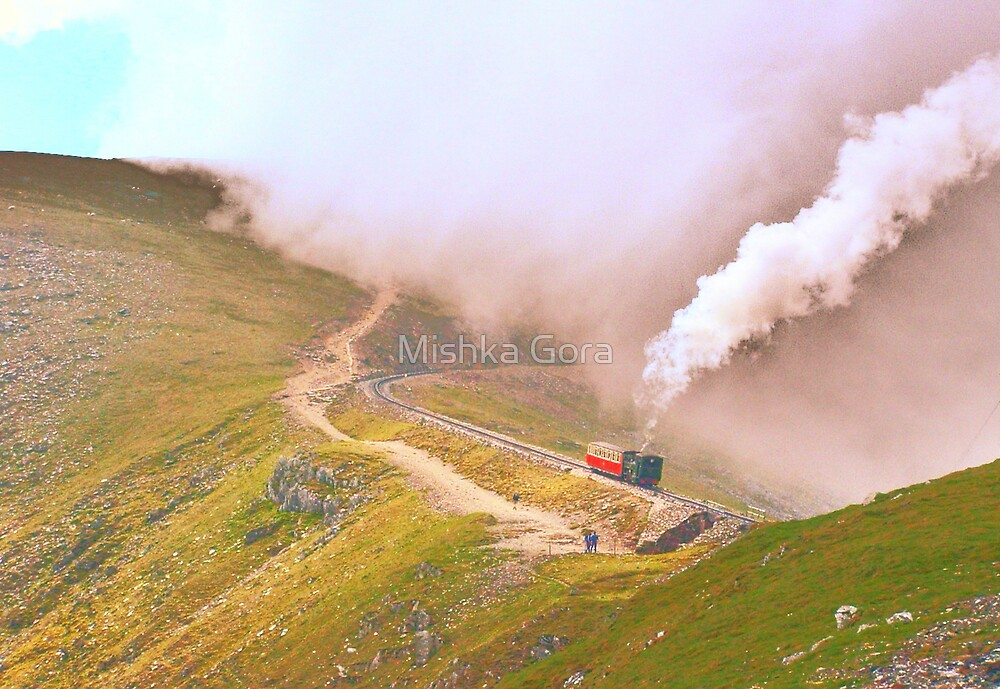 Train on Snowdon by Mishka Gora