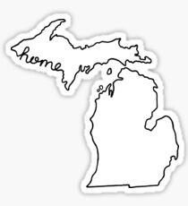 Michigan Home State Outline Sticker