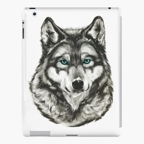 Wolf In The Snow iPad Snap Case