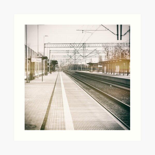 street photo STATION #photo #streetphoto Art Print