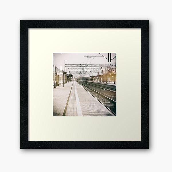 street photo STATION #photo #streetphoto Framed Art Print