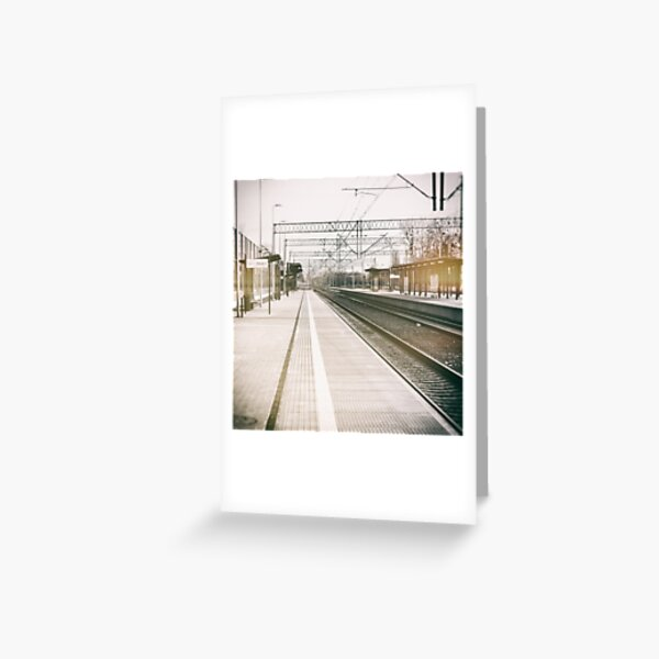 street photo STATION #photo #streetphoto Greeting Card
