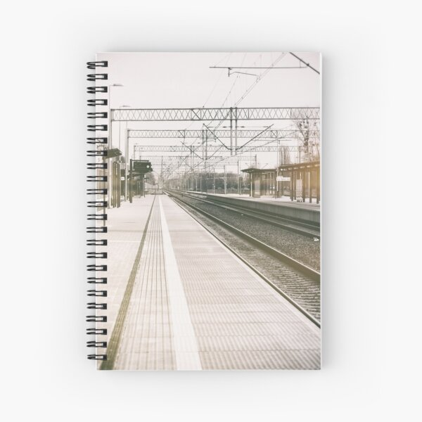 street photo STATION #photo #streetphoto Spiral Notebook