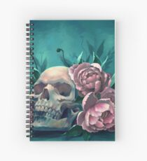 Skull and Peonies Spiral Notebook