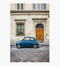 Small Italian Vintage Car in Alley Photographic Print