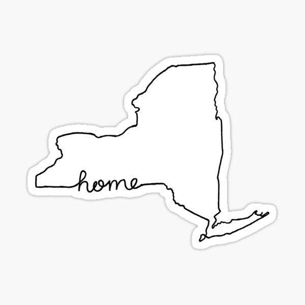 New York Home State Outline Sticker
