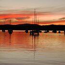 Winter Red Sunset at Valentine by Bev Woodman