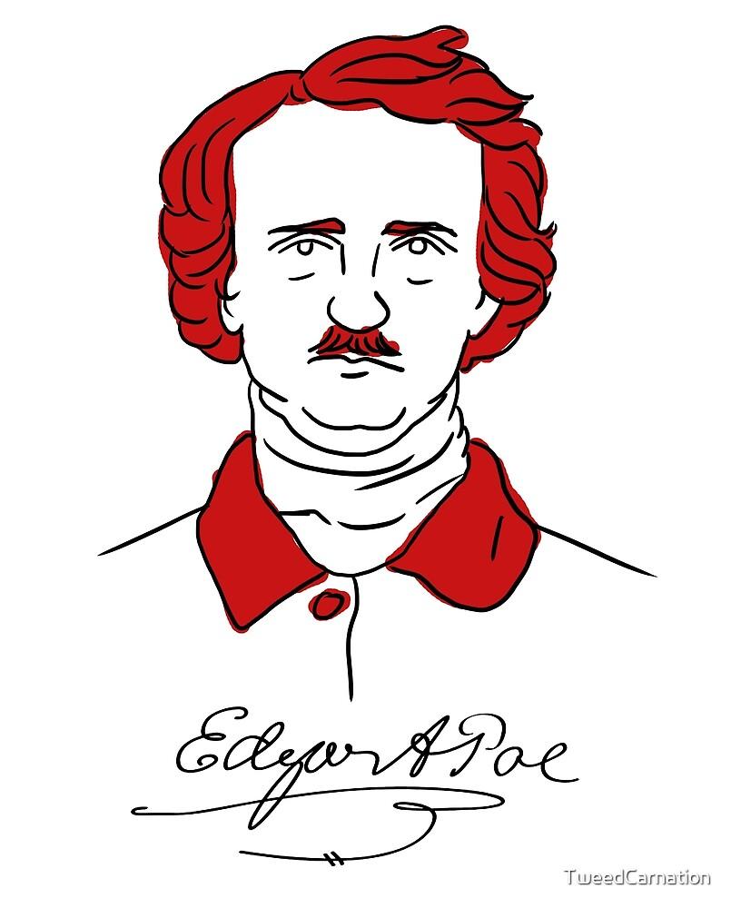 Minimalist Edgar Allan Poe by TweedCarnation