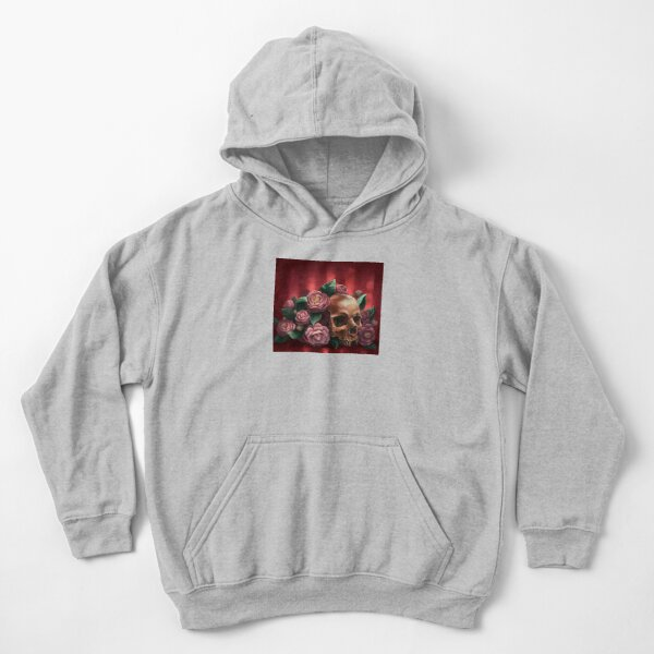 Skull and Camellias Kids Pullover Hoodie