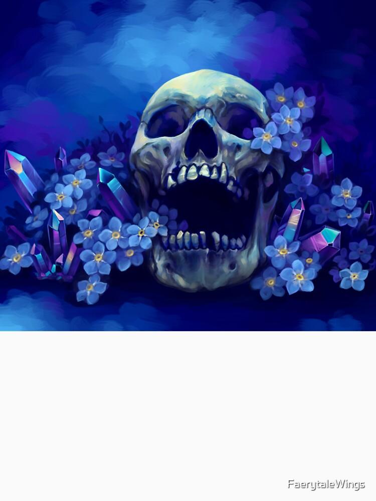 Cráneo y nomeolvides de FaerytaleWings
