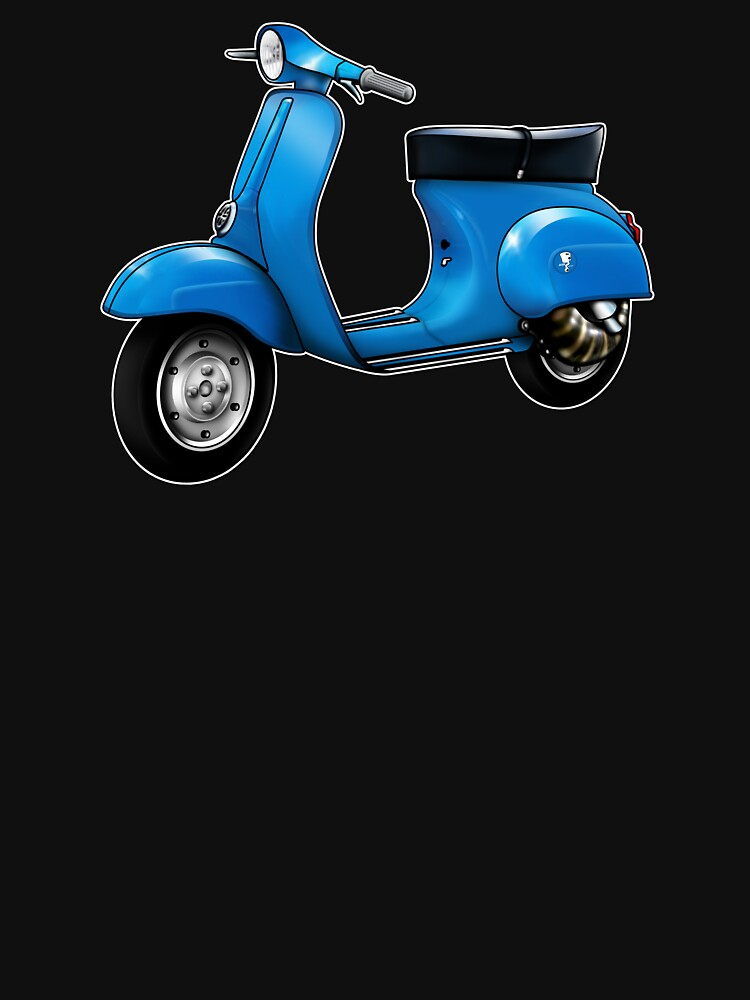 Scooter T-shirts Art: Small Frame Hot Rod scooter  by yj8dsk57