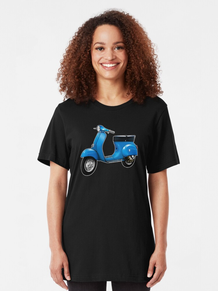 Alternate view of Scooter T-shirts Art: Small Frame Hot Rod scooter  Slim Fit T-Shirt