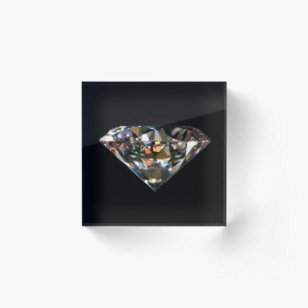 Diamonds are Forever - Super Classy Designs Acrylic Block