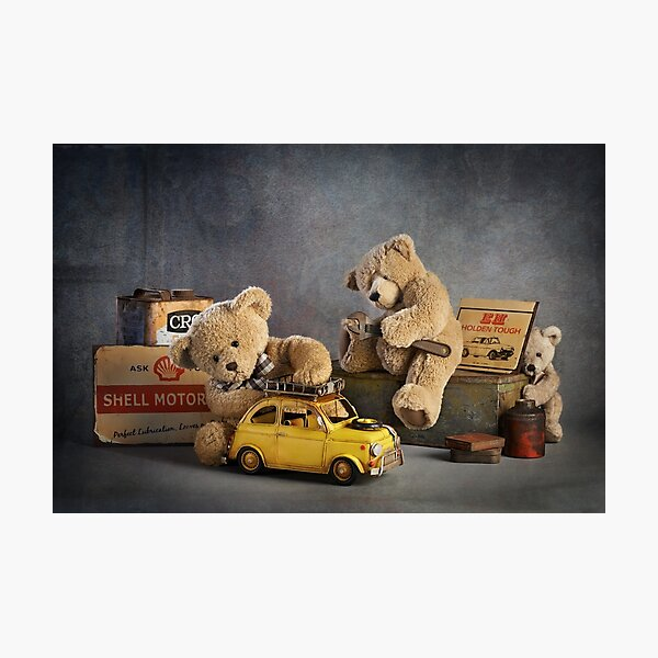 "Still Life #37 -  "" Automotive Bears "" Photographic Print"