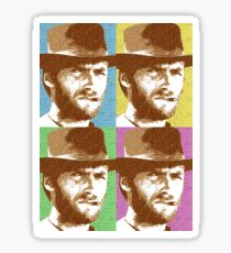 Scrabble Clint Eastwood x 4 Sticker