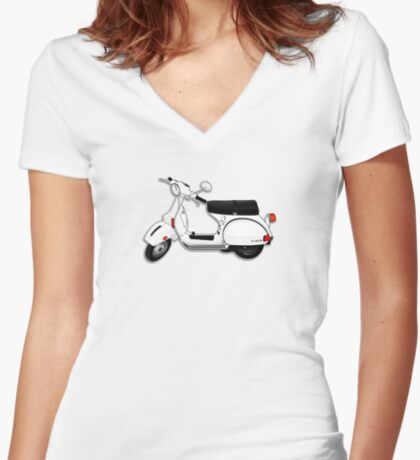 Scooter T-shirts Art: P Series Scooter Design Women's Fitted V-Neck T-Shirt