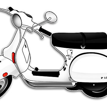 Scooter T-shirts Art: P Series Scooter Design by yj8dsk57