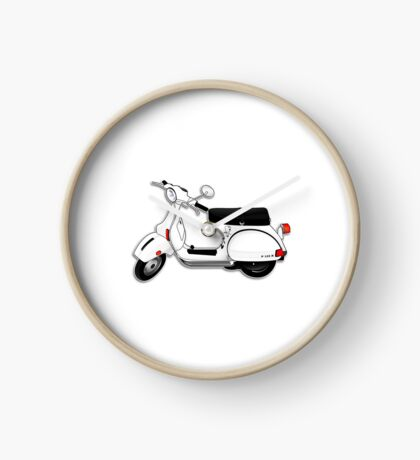 Scooter T-shirts Art: P Series Scooter Design Clock