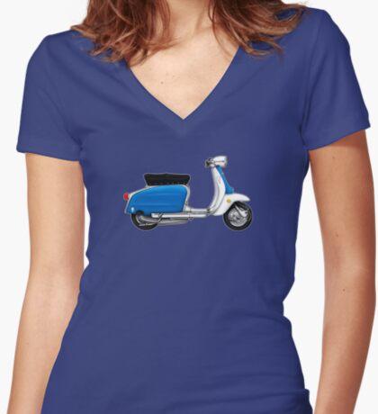 Scooter T-shirts Art: Serveta Li 150 Special, Original Color Design Women's Fitted V-Neck T-Shirt