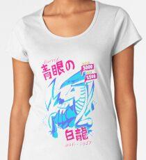 BLUE-EYES WHITE DRAGON (青眼の白龍) Women's Premium T-Shirt