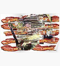 Bacon Guitar Pedal Poster