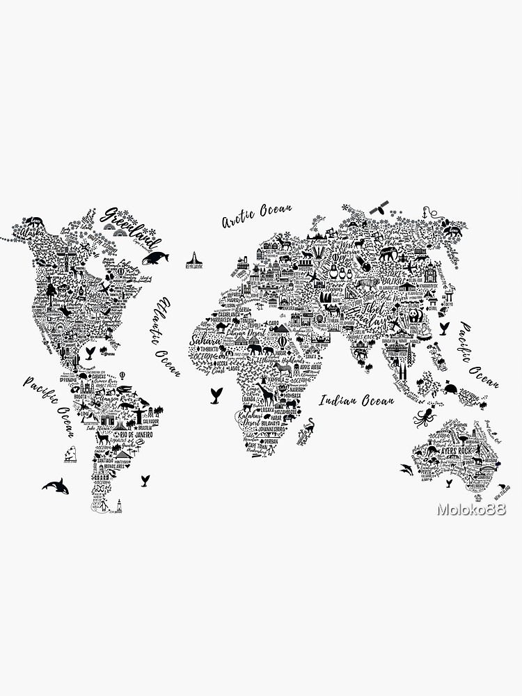 Typography World Map. by Moloko88