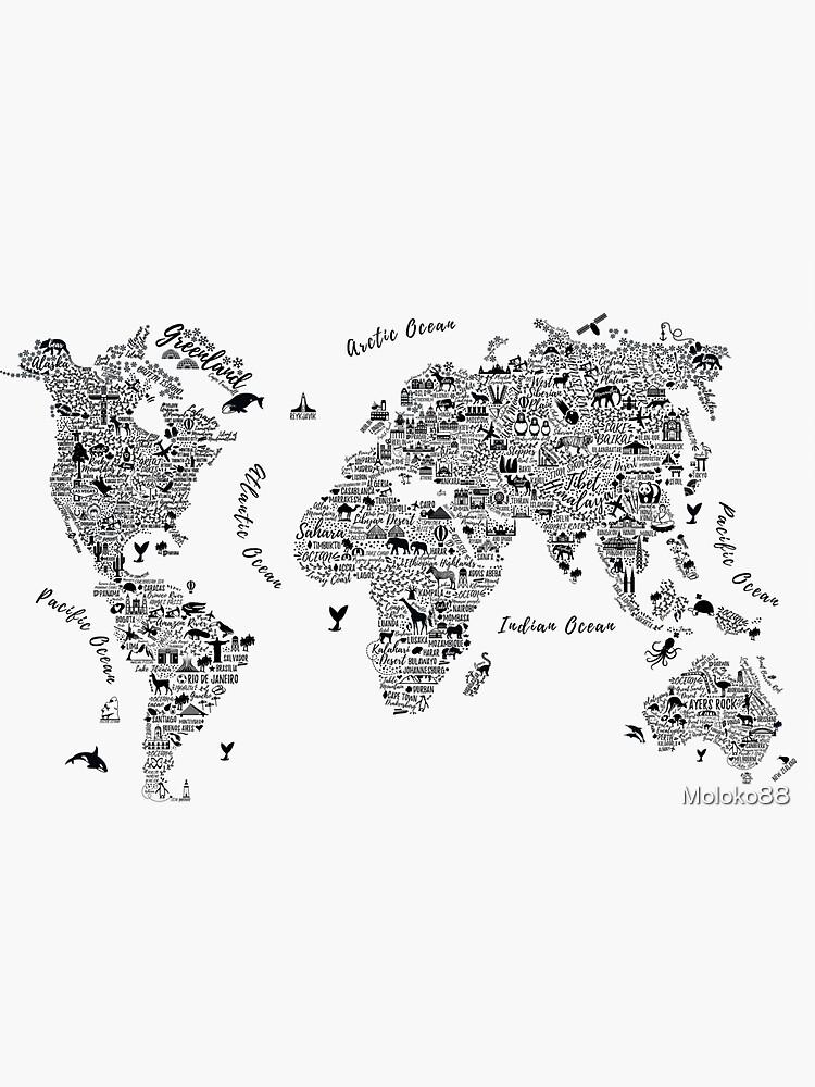 Typography World Map. von Moloko88