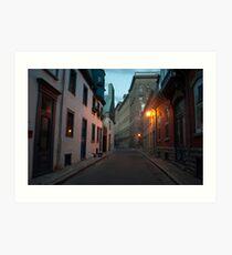 Streets Of Old Quebec At Dusk  Art Print