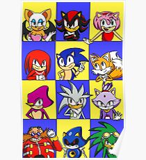 Sonic Squares Poster