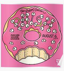 POSTER PHISH THE BAKER'S DOZEN MANDISON SQUARE GARDEN, AUGUST 6, 2017 NIGHT 13 Poster