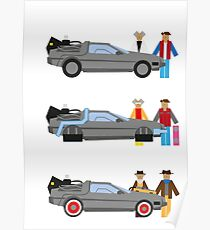 Back to the Future Delorian Poster