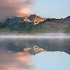 Sunrise over a misty Blea Tarn in the English Lake District by Martin Lawrence