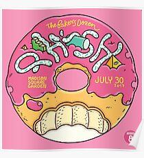 POSTER PHISH THE BAKER'S DOZEN MADISON SQUARE GARDEN JULY 30, 2017 NIGHT 8 Poster