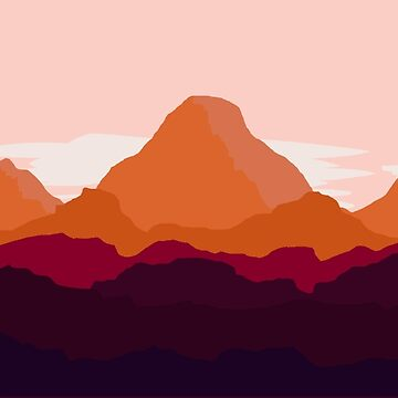 Red Mountain Landscape by xoxomerch