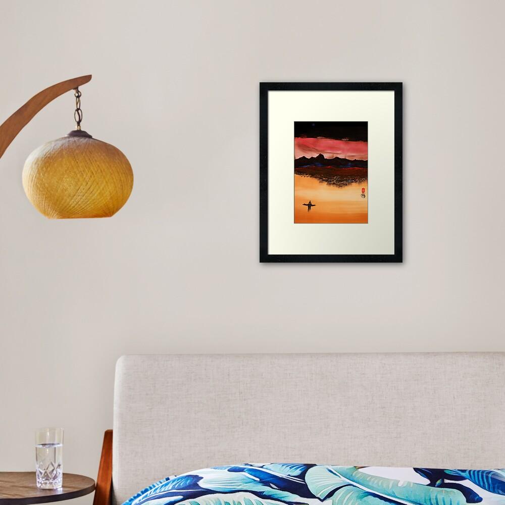 Mountain Fire Framed Art Print
