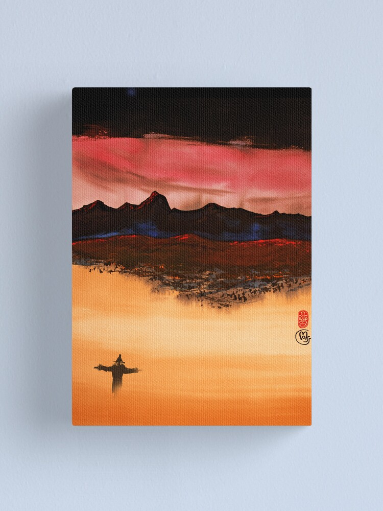 Alternate view of Mountain Fire Canvas Print