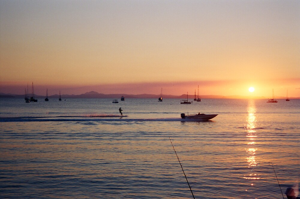 Keppel Boat Sunset by Liz Cooper