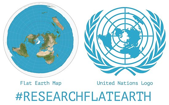 Flat Earth Designs   Research Flat Earth Map UN Logo