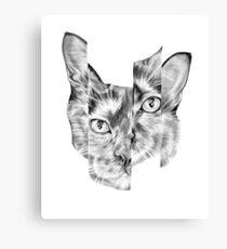 Kitty Split Canvas Print